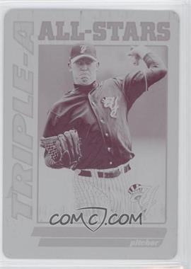 2010 Topps Pro Debut Triple-A All-Stars Printing Plate Magenta #TA-9 - Zach Kroenke /1