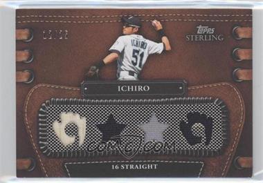 2010 Topps Sterling Legendary Leather 4 Piece Memorabilia #4LLR-58 - Ichiro Suzuki /25