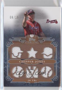 2010 Topps Sterling Stats Relic #SSR-117 - Chipper Jones /10