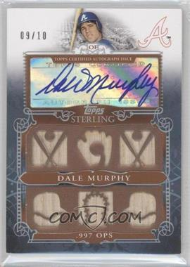 2010 Topps Sterling Sterling Stats Six Relic Autographs Silver #SSAR-23 - Dale Murphy /10