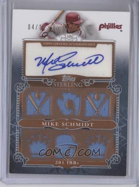 2010 Topps Sterling Sterling Stats Six Relic Autographs Silver #SSAR-37 - Mike Schmidt /10