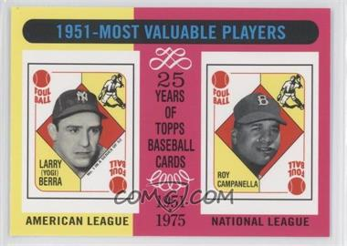 2010 Topps The Cards Your Mom Threw Out Original Back #189 - Yogi Berra, Roy Campanella