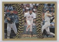 1998 All-Topps Shortstops (Alex Rodriguez, Nomar Garciaparra, Derek Jeter)