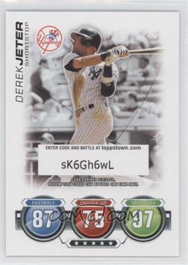 2010 Topps Topps Attax Code Cards #N/A - Derek Jeter