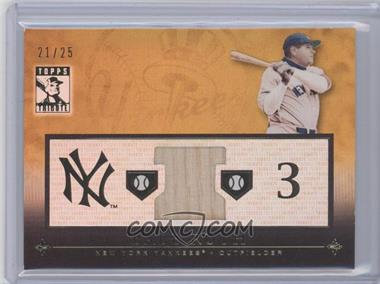 2010 Topps Tribute - Relic - Gold #TR-BRU - Babe Ruth /25