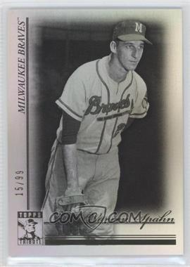 2010 Topps Tribute Black #41 - Warren Spahn /99