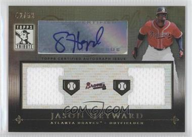 2010 Topps Tribute Dual Relic Autographs Black #TADR-JH - Jason Heyward /50