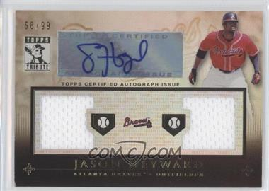 2010 Topps Tribute Dual Relic Autographs #TADR-JH - Jason Heyward /99