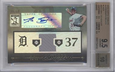 2010 Topps Tribute Relic Autographs Black #TAR-MS3 - Max Scherzer /50 [BGS 9.5]