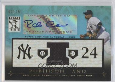 2010 Topps Tribute Relic Autographs Blue #TAR-2 - Robinson Cano /75