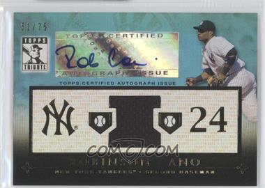 2010 Topps Tribute Relic Autographs Blue #TAR-RC2 - Robinson Cano /75