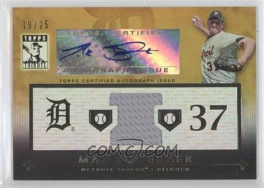 2010 Topps Tribute Relic Autographs Gold #TAR-MS3 - Max Scherzer /25