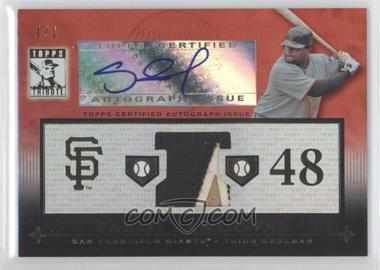 2010 Topps Tribute Relic Autographs Red #TAR-PS3 - Pablo Sandoval /1