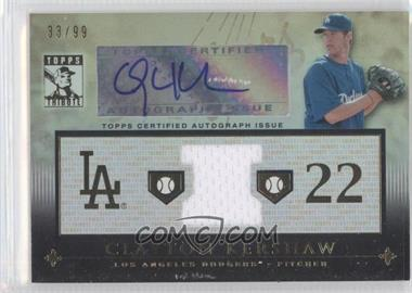 2010 Topps Tribute Relic Autographs #TAR-CK2 - Clayton Kershaw /99