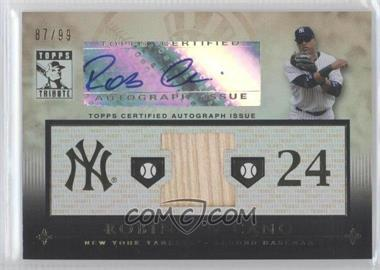 2010 Topps Tribute Relic Autographs #TAR-RC4 - Robinson Cano /99