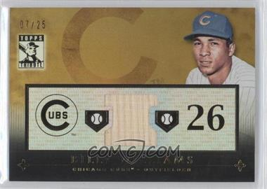 2010 Topps Tribute Relic Gold #TR-BW - Billy Williams /25