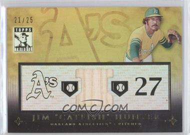 2010 Topps Tribute Relic Gold #TR-CH - Jim Hunter, Catfish Hunter /25