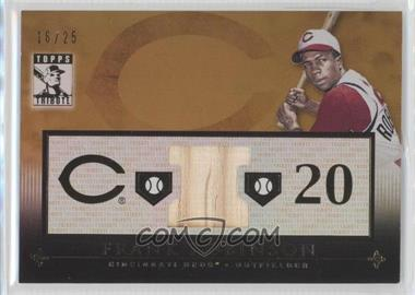 2010 Topps Tribute Relic Gold #TR-FR - Frank Robinson /25