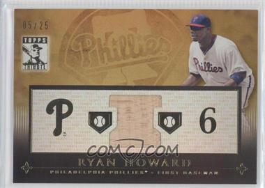 2010 Topps Tribute Relic Gold #TR-RHO - Ryan Howard /25