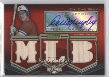 2010 Topps Triple Threads - Autographed MLB Die-Cut Relics #TTAR-DM - Dale Murphy /18