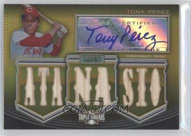 2010 Topps Triple Threads - Autographed Relics - Gold #TTAR-166 - Tony Perez /9