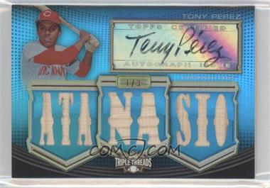 2010 Topps Triple Threads - Autographed Relics - Sapphire #TTAR-166 - Tony Perez /3