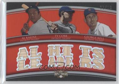 2010 Topps Triple Threads - Relic Combos #TTRC-43 - Al Kaline, Ty Cobb, George Kell /36