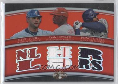 2010 Topps Triple Threads - Relic Combos #TTRC-44 - Albert Pujols, Ryan Howard, Prince Fielder /36
