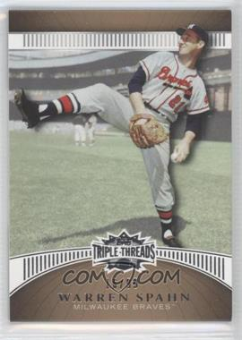 2010 Topps Triple Threads Gold #14 - Warren Spahn /99