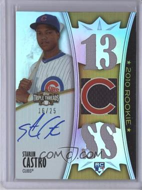 2010 Topps Triple Threads Gold #147 - Starlin Castro /25