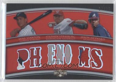 2010 Topps Triple Threads Relic Combos #TTRC-29 - Stephen Strasburg, Jason Heyward, Mitch Stetter /36