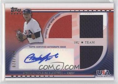 2010 Topps USA Baseball Team - Autograph Relics #USAAR-CL - Christian Lopes /219
