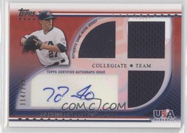2010 Topps USA Baseball Team - Autograph Relics #USAAR-JE - Jason Esposito /219