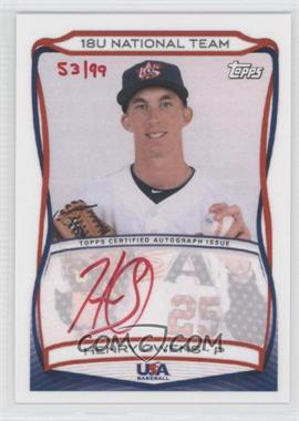 2010 Topps USA Baseball Team - Autographs - Red Ink #A-12 - Henry Owens /99