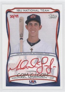 2010 Topps USA Baseball Team - Autographs - Red Ink #A-17 - Michael Lorenzen /99