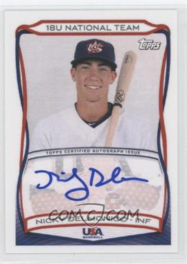 2010 Topps USA Baseball Team - Autographs #A-18 - Nicky Delmonico