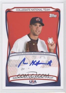 2010 Topps USA Baseball Team - Autographs #A-27 - Sean Gilmartin