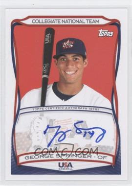 2010 Topps USA Baseball Team - Autographs #A-40 - George Springer