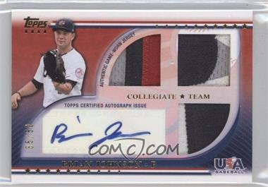 2010 Topps USA Baseball Team Autograph Relics Patches #USAAR-BJ - Brian Johnson /50