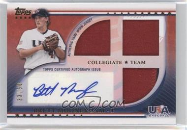 2010 Topps USA Baseball Team Autograph Relics Patches #USAAR-BMO - Brett Mooneyham /50