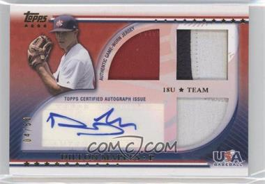 2010 Topps USA Baseball Team Autograph Relics Patches #USAAR-DM - Dillon Maples /50