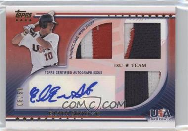 2010 Topps USA Baseball Team Autograph Relics Patches #USAAR-ES - Elliot Soto /50