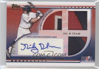 2010 Topps USA Baseball Team Autograph Relics Patches #USAAR-ND - Nick Delmonico /50