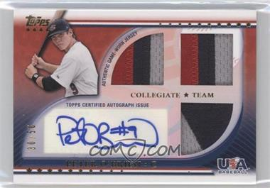 2010 Topps USA Baseball Team Autograph Relics Patches #USAAR-PO - Peter O'Brien /50