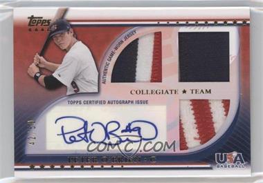 2010 Topps USA Baseball Team Autograph Relics Patches #USAAR-PO - Peter O'Brien /50