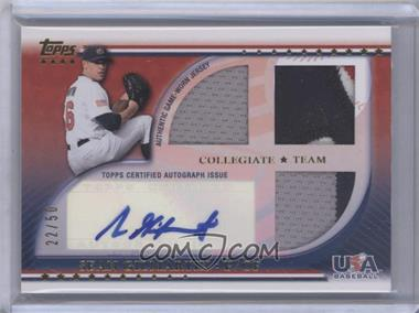 2010 Topps USA Baseball Team Autograph Relics Patches #USAAR-SG - Sean Gilmartin /50