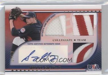 2010 Topps USA Baseball Team Autograph Relics Patches #USAAR-SGR - Sonny Gray /50