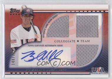 2010 Topps USA Baseball Team Autograph Relics #USAAR-BM - Brad Miller /219