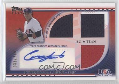 2010 Topps USA Baseball Team Autograph Relics #USAAR-CL - Christian Lopez /219