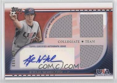 2010 Topps USA Baseball Team Autograph Relics #USAAR-KW - Kyle Winkler /219